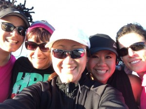 Running with Katrina, Lorraine, Jenny, and Nancy on Jan 1, 2014.
